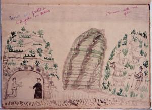 David nella grotta di Montorio Romano in Sabina, autunno 1868